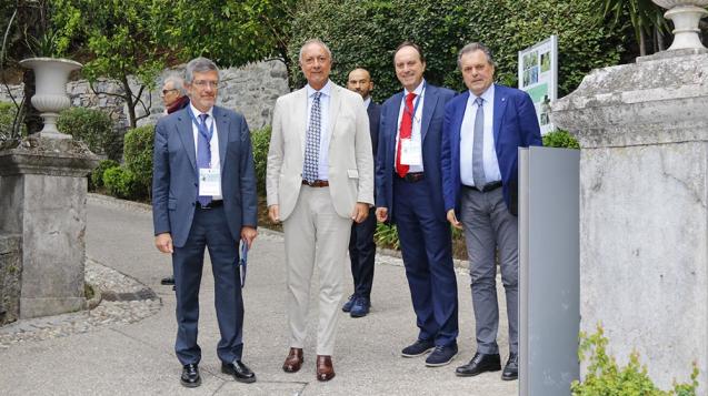 Magistrati della Corte dei conti Maurizio Orefice, Amedeo Bianchi, Giampiero Pizziconi e Massimo Venturato